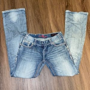 Rock And Roll Cowgirl Low Rise Jeans.